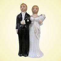 Vintage 1960s Japan Bisque Wedding Cake Topper