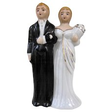 Vintage 1960s Japan Bisque Wedding Cake Topper