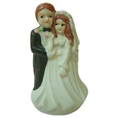 Vintage Bisque Wedding Cake Topper 1970s