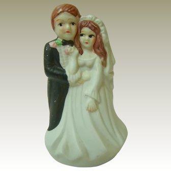 Vintage Bisque Wedding Cake Topper 1970s