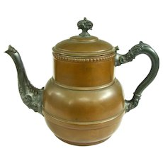 A Wonderful Antique Copper Kettle With Awesome Patina