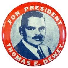 Thomas E. Dewey Presidential Campaign Pin, 1948 Truman Upset!