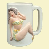 An Excellent 1960s Bikini Girl Tiki Mug