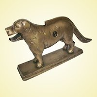 An Antique Heavy Solid Brass Dog Nutcracker