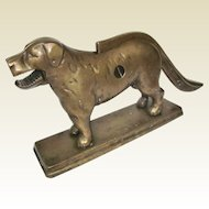 An Antique Heavy Solid Brass Dog Nutcracker