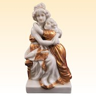 Lovely Antique German Porcelain Kister Group Mother and Child Circa 1910