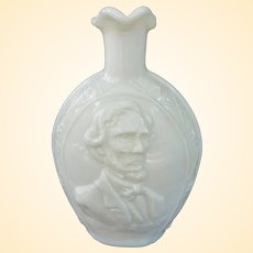 Vintage Clevenger Brothers Civil War Commemorative Bottle Vase, Circa 1960s