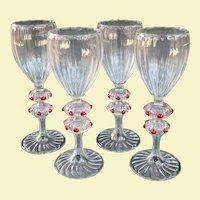 A Set of Four Bimini Fritz Lampl Cordial Glasses Circa 1930