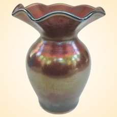 Imperial Jewel Amethyst Stretch Glass Vase C1916-1930
