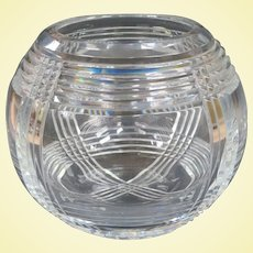 Sensational Art Deco Lead Crystal Bowl