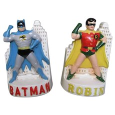 Vintage 1966 Batman and Robin Bookends - National Periodical Publications