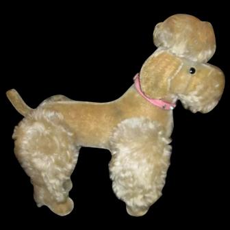"14"" Steiff ""Snobby"" French Poodle Dog - Grey"