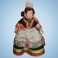 Vintage French Celluloid Doll in Beautiful Regional Costume