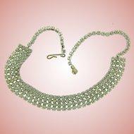 Vintage crystal rhinestone dog collar choker Necklace