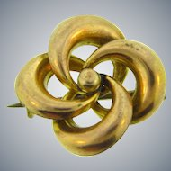 Vintage early 1900's small lover's knot  gold filled Scatter Pin