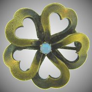 Vintage early floral Scatter Pin with tiny opal stone