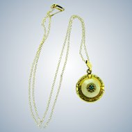 Vintage marked Simmons gold filled locket and chain