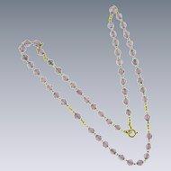 Vintage tiny purple crystal bead Necklace