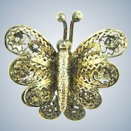 Marked 925 sterling silver Italy small figural butterfly scatter pin