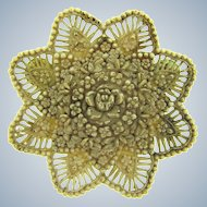 Vintage celluloid floral Brooch