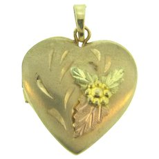 Small marked 1/20 12 kt gold filled heart shaped Locket Charm