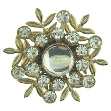 Vintage small 1950's Brooch with rhinestones