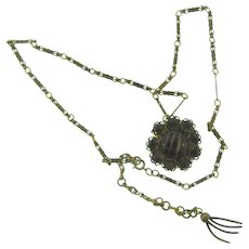 Vintage Necklace with art glass Pendant