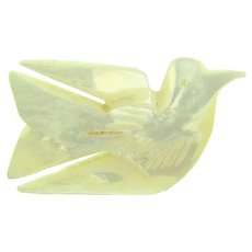 Marked Bethlehem souvenir Mother of Pearl figural Dove Brooch