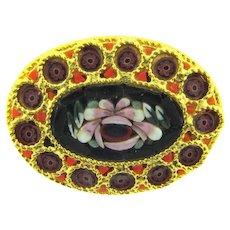 Vintage mosaic smaller floral Brooch