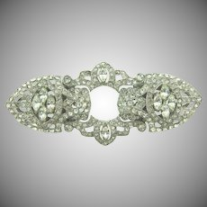 Gorgeous Art Deco crystal rhinestone Duette Brooch/ Dress clips