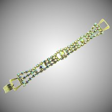 Vintage four row AB rhinestone Bracelet
