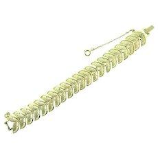 Signed Coro vintage gold tone link Bracelet