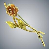 Signed Krementz tiny gold filled flower Scatter Pin