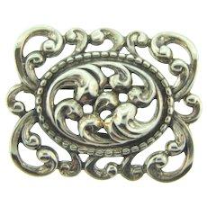 Signed Danecraft Sterling silver Brooch