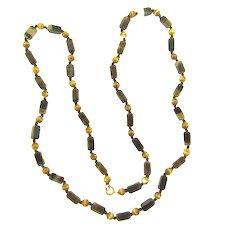 Vintage NOS Austrian art glass beaded Necklace
