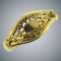 Signed Austin & Stone gold filled bangle Bracelet