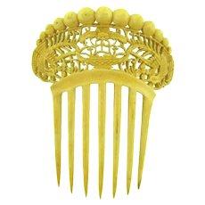 Carved bone Hair Comb