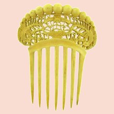 Carved bone Hair Comb