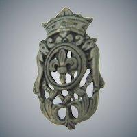 Vintage heraldic crest Scatter Pin