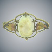 Vintage small stone Cameo Scatter Pin