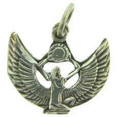 Vintage sterling silver Egyptian Goddess Isis charm/pendant