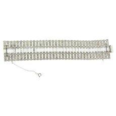 Vintage 7 row wide crystal rhinestone Bracelet
