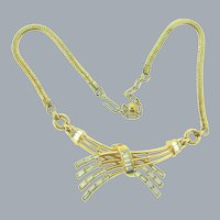 Signed Crown Trifari pat. pend. Alfred Philippe choker Necklace with crystal rhinestones