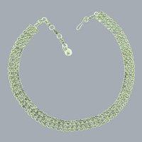 Vintage triple strand crystal rhinestone choker Necklace