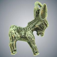 Vintage sterling silver figural donkey Charm