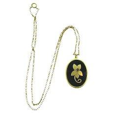 Signed Bond Boyd sterling vermeil pendant Necklace