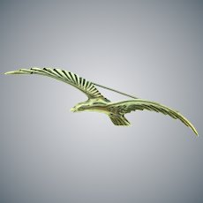 Marked Mexico sterling silver figural sea gull Brooch