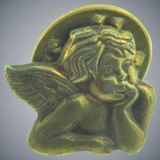 Vintage tiny figural angel Lapel Pin