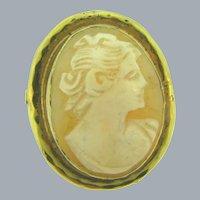 Signed Espo-Flex 1/20 12 k gold filled framed shell Cameo