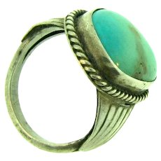 Vintage men's sterling silver and turquoise Ring